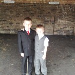William and Daniel ready for the Communion Service